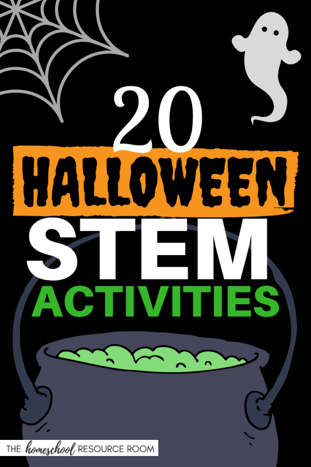 20 Halloween STEM Activities including Halloween slime recipes, spooky science experiments, tricky and tasty treats, and monster themed activities.