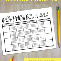 November Writing Prompts: FREE Printable Calendar!