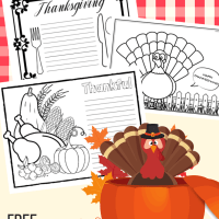 Thanksgiving Placemats for Kids: 10 FUN Designs