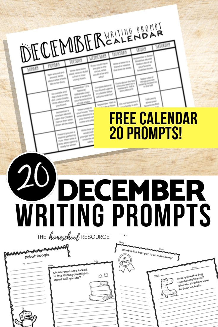 Check out these December Writing Prompts with a free writing prompt calendar! Engaging elementary writing prompts with a fun doodle design. #elementary #writingprompts #writing