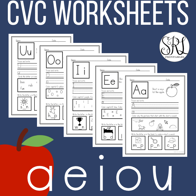 Short Vowel Worksheets