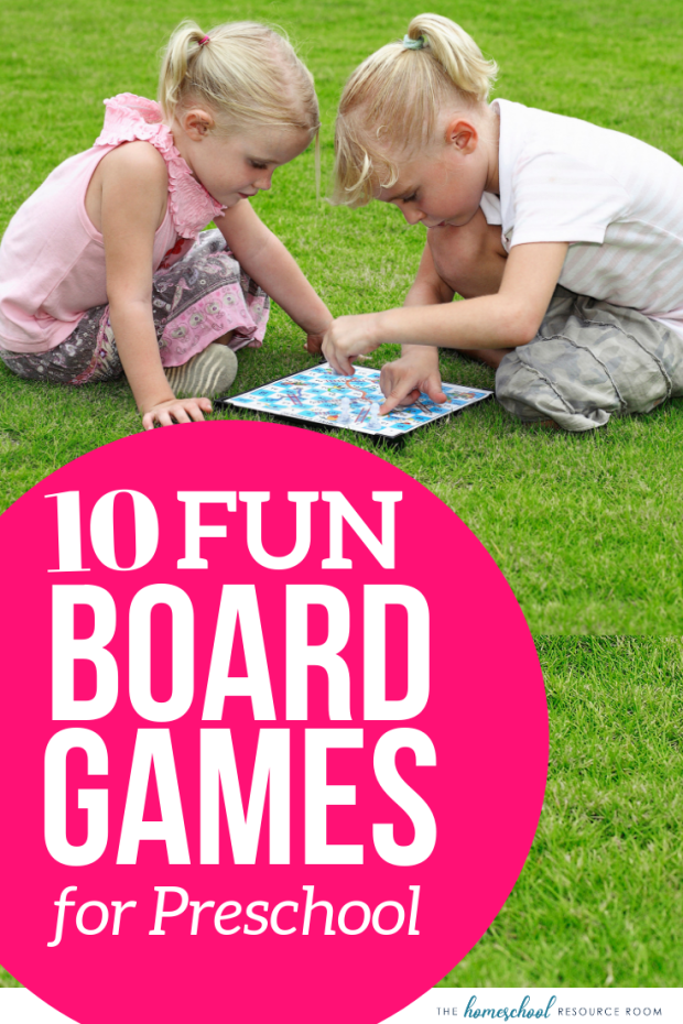 10 Fun Preschool Board Games - educational games for preschoolers. Fun and learning with hands on games to learn counting, colors, shapes, and the alphabet! #preschool #games #boardgames #learning #earlychildhood