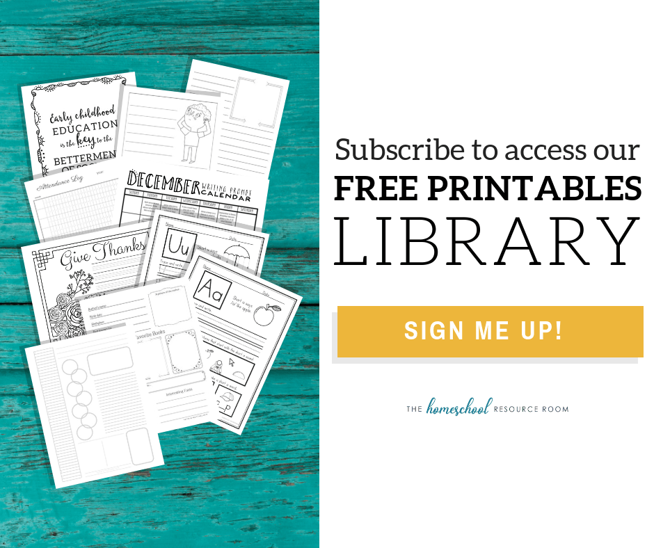 Subscribe to access our free printables library
