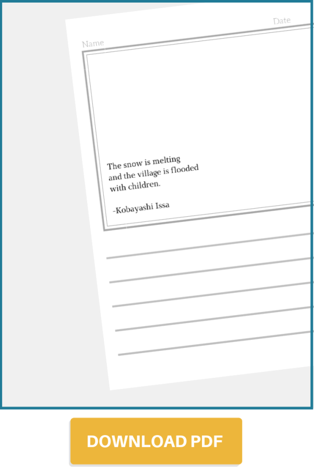 Haiku Worksheets