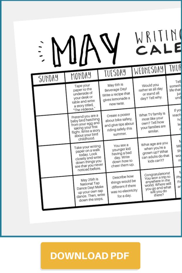 Download May prompt calendar