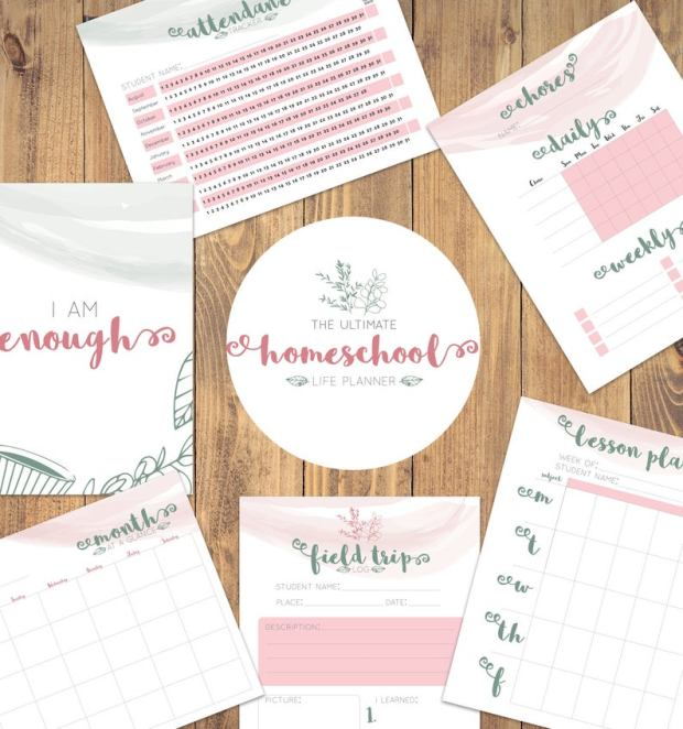 Printable Homeschool planners (2)