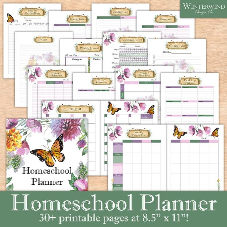 Printable Homeschool planners (4)