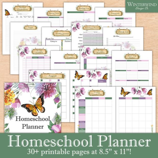Printable Homeschool planners (4)