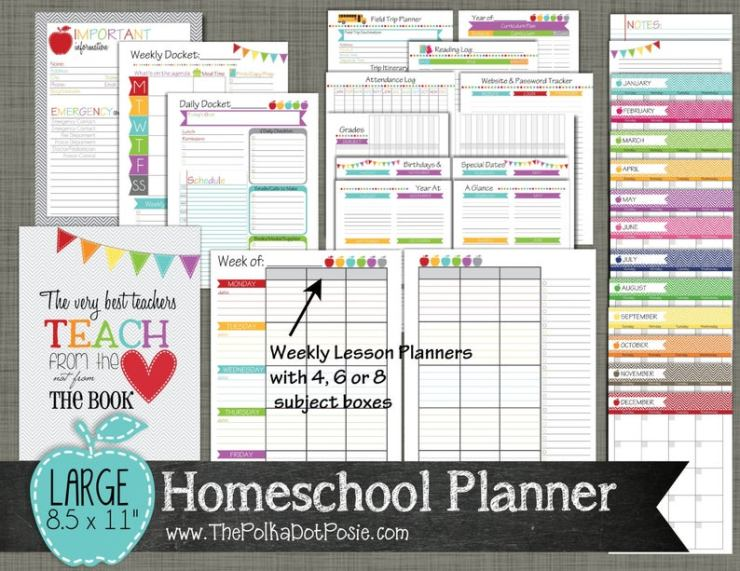 Printable Homeschool planners (7)