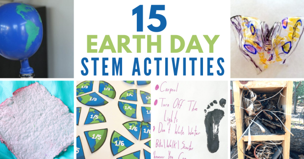 15 fun Earth Day STEM activities. Hands-on lessons about recycling, conservation, and our environment. #stem #earthday #steam #stemeducation