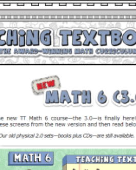 Teaching Textbooks: Math 6