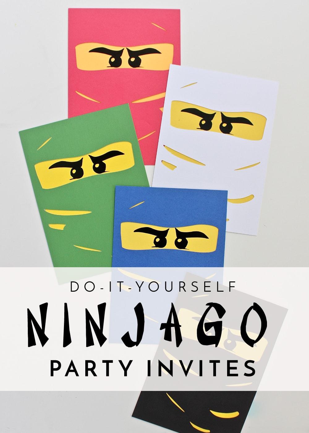 diy ninjago party invitations the