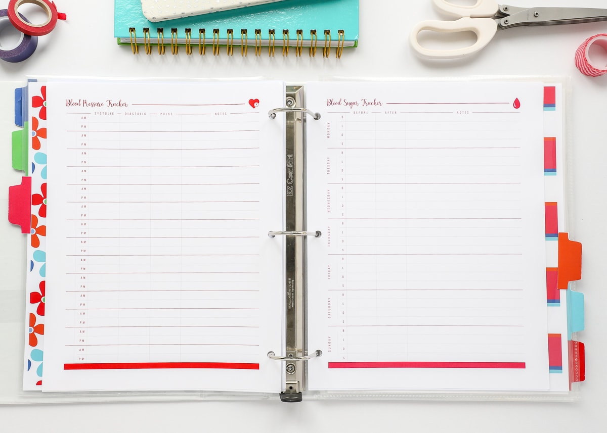 New To The Organization Toolbox Printable Health Trackers