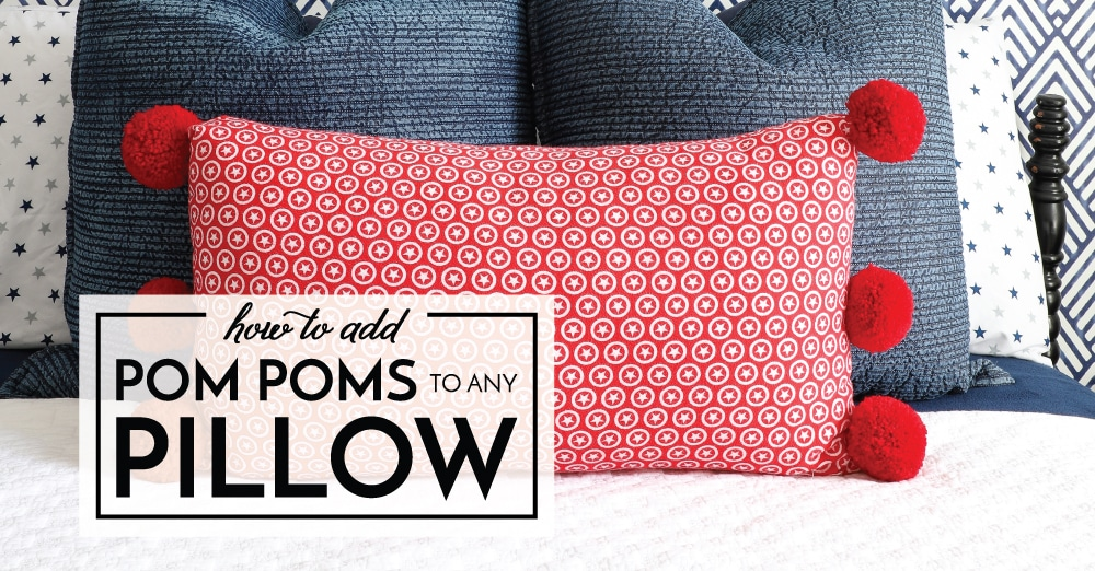 how to add pom poms to a pillow the