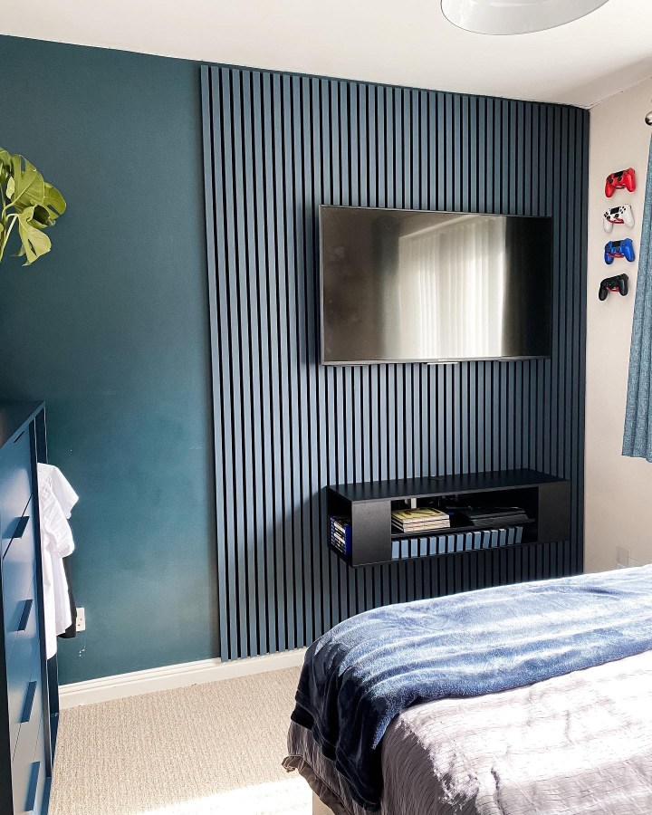How to Create A Tv Wooden Slat Panelled Feature Wall!