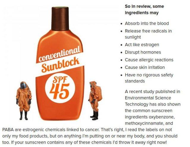 dangers of sunscreen