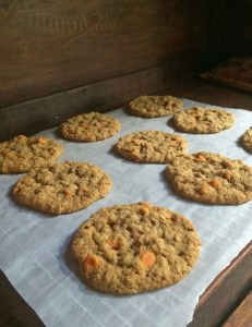 Oatmeal and Pumpkin Spice Chip Cookies