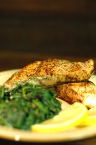 Pan-Seared Salmon with Lemon and Dill