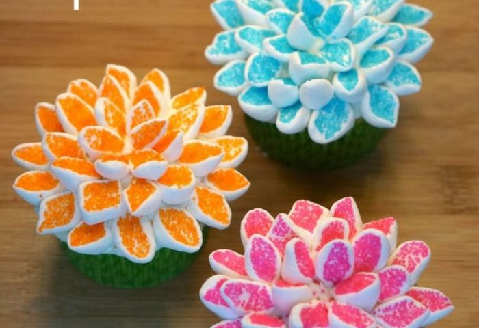 Marshmallow Flower Cupcakes Decorating Technique The Homestead