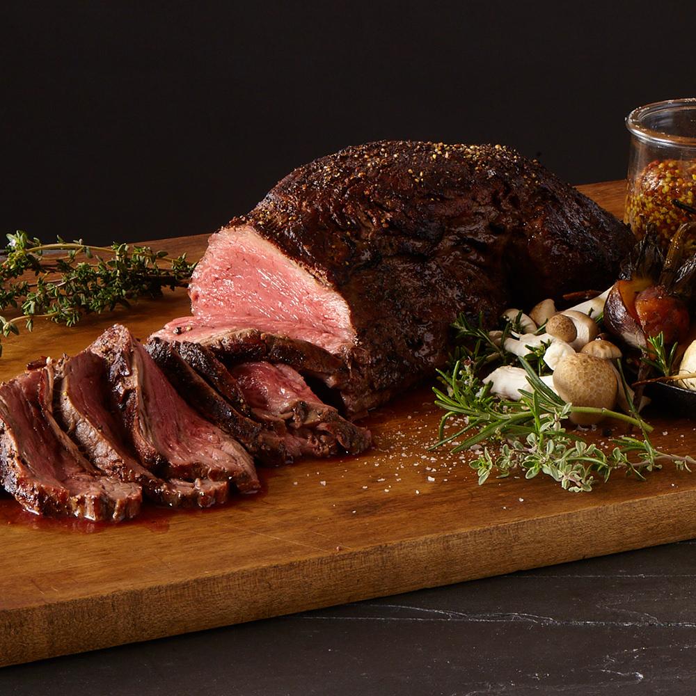 roasted whole bison tenderloin