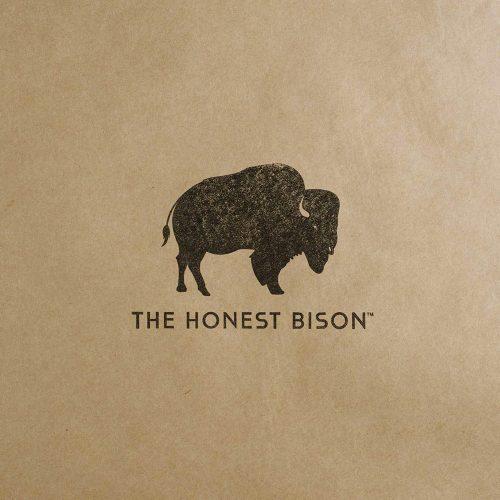 the honest bison stamp logo