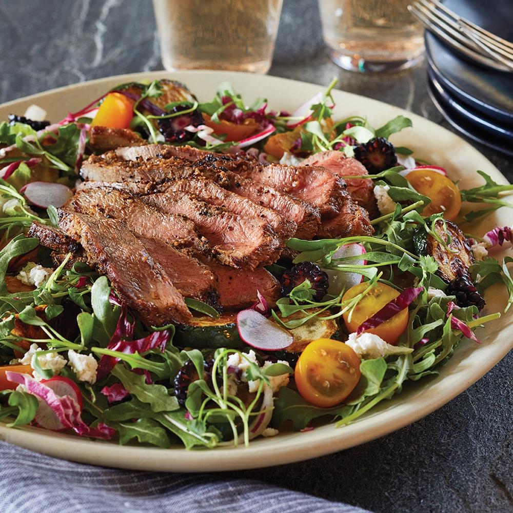 grass fed beef flat iron steak