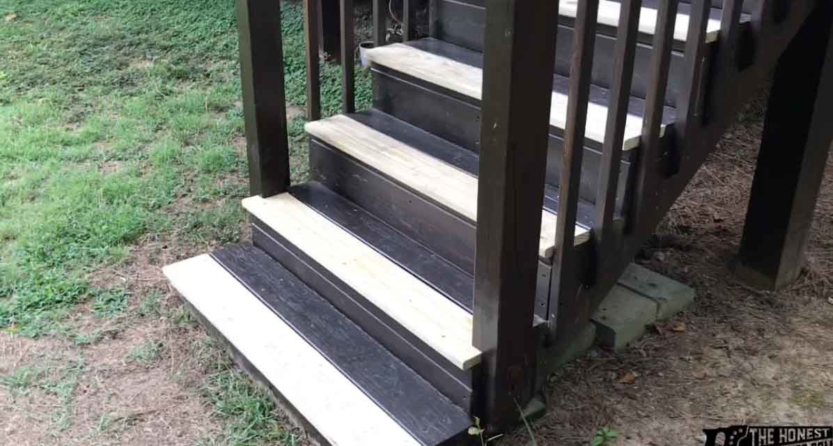 How To Replace Deck Stair Treads The Honest Carpenter | Staircase Replacement Near Me | Deck | Handrail | Carpeted Stairs | Riser | Stair Runner