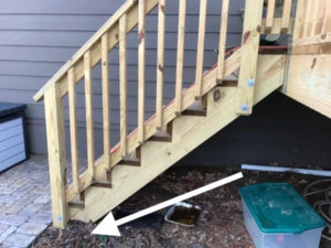 How To Set Stronger Ground Posts The Honest Carpenter   Exterior Handrails For Brick Steps   Staircase   Vinyl Railing   Wrap Around   Deck Railing   Wood