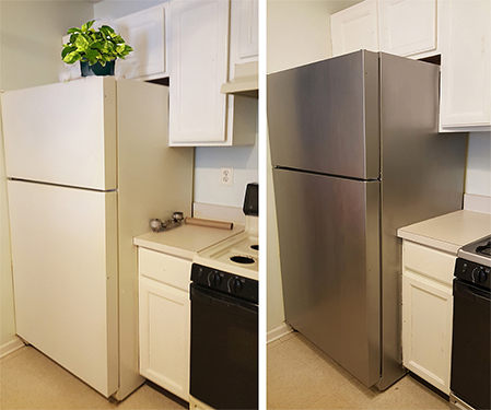 How To Paint Appliances Stainless Steel The Honeycomb Home
