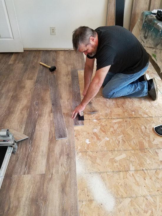 installing vinyl floors a do it