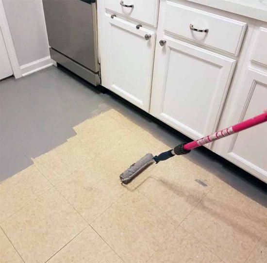 how to paint linoleum flooring the