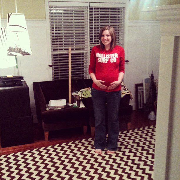 I appear to be giddy because we're working on the boys' room and nursery, but I think it's really just that I'm ecstatic that this room isn't a blue guest room anymore.