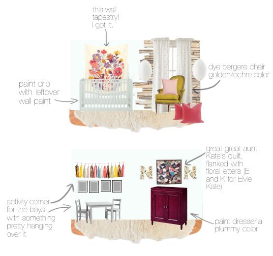 plans for Elvie Kate's room