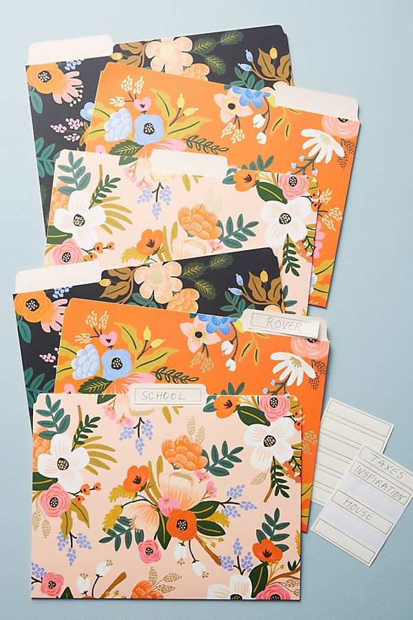 File folders - Stationary Must-Haves For College at the Honey Scoop