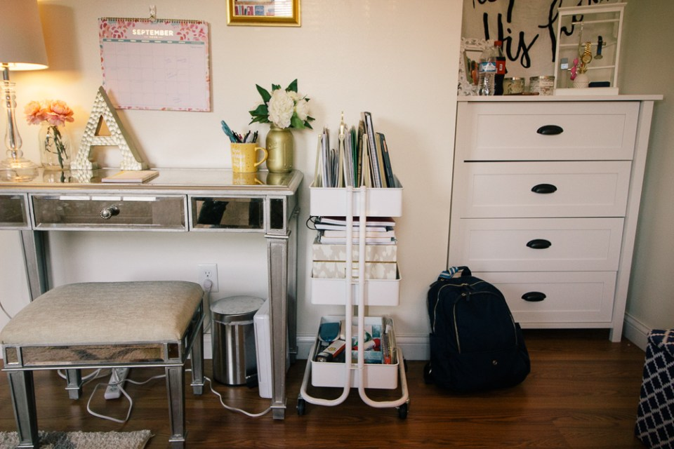 Everything You Need In Your Own College Room at the Honey Scoop - college bedroom ideas, college bedroom, college bedding, college bedroom apartment, college desk organization diy, college desk decor, college desk organization dorm, college desk essentials
