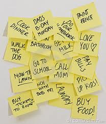 Stick stick stick...! Post-it notes to the rescue for deteriorating brain cells :P
