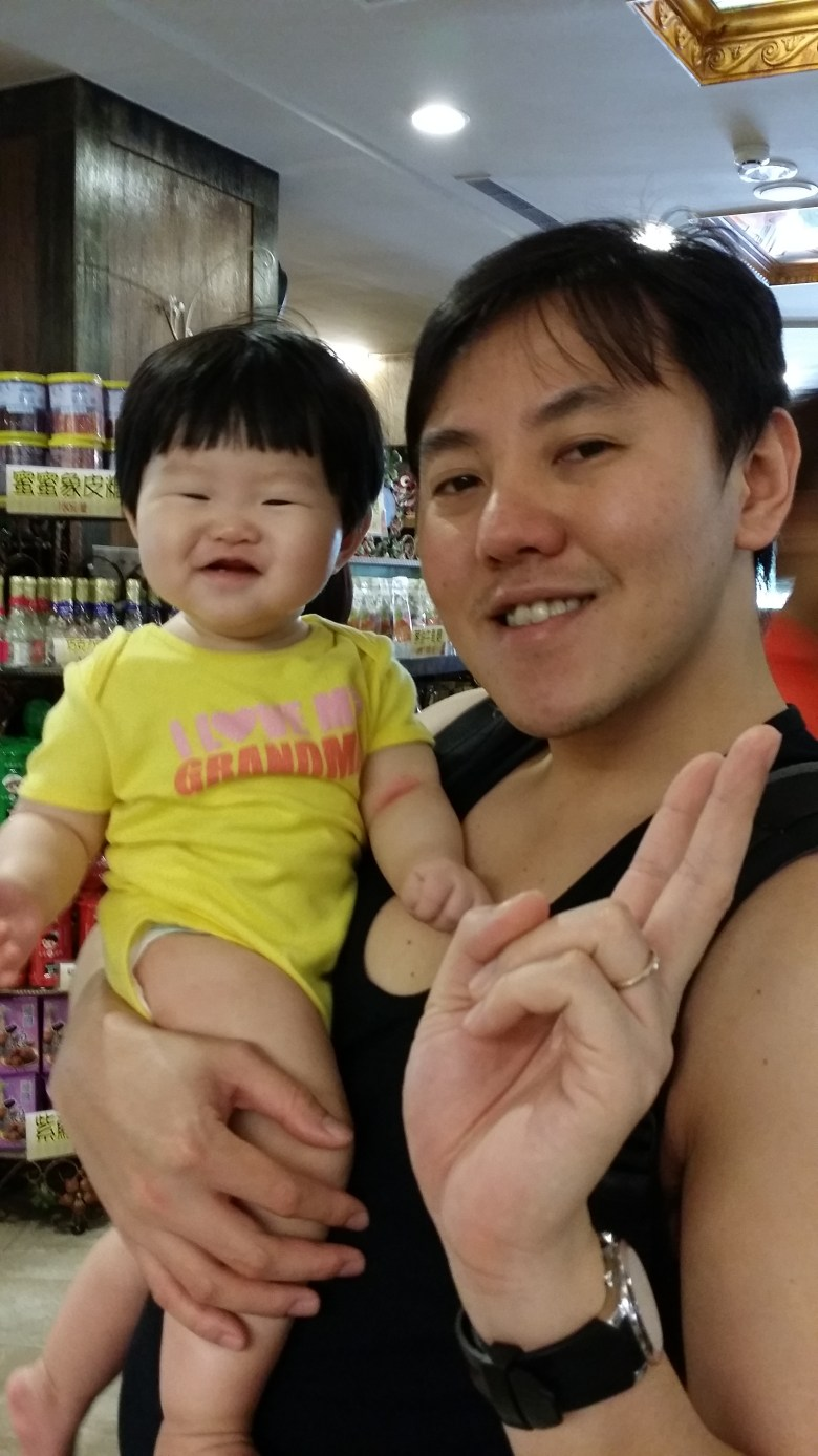 visit King Garden Taichung travel with baby vera