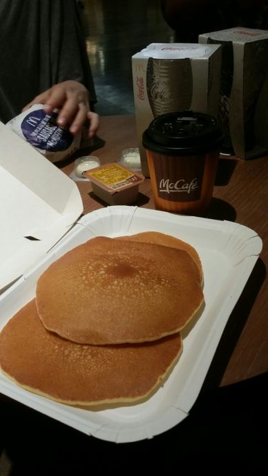 3 large pancakes - they were fluffier too!