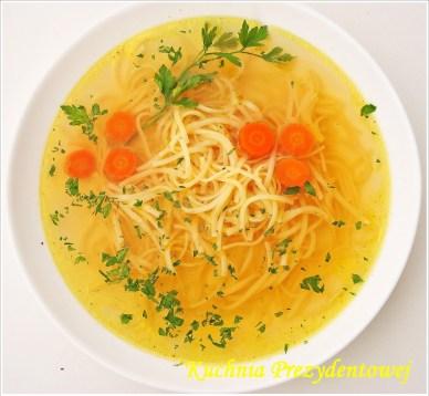 Rosol z Kury - Polish Chicken Macaroni Soup (Photo Credit: Kuchnia Prezydentowej)