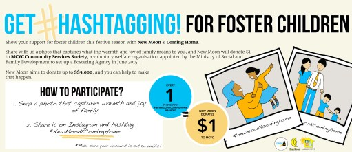 Foster families New Moon Coming Home fundraising campaign