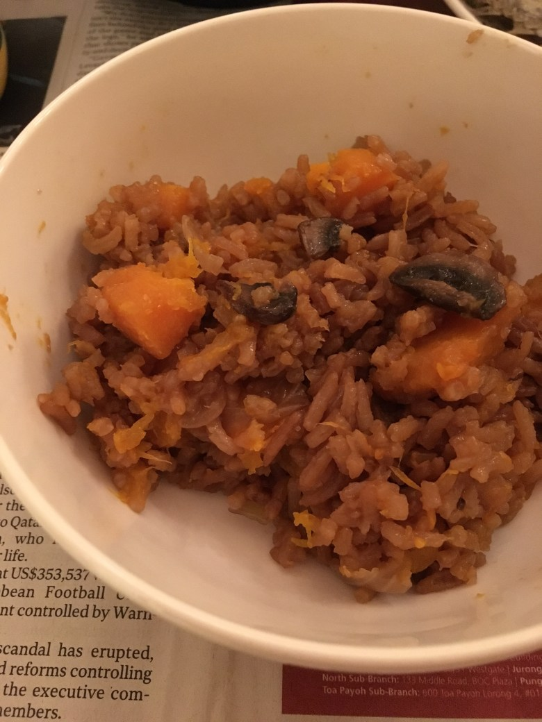Easy one-pot meal ideas rice cooker pumpkin rice recipe