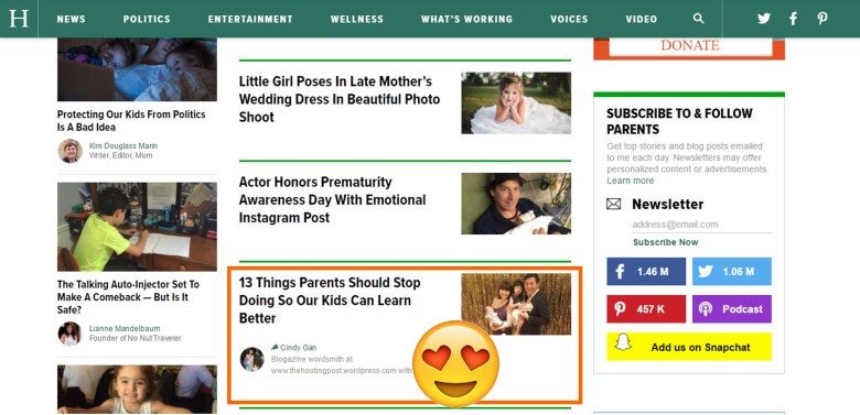 The HOOTing Post is a contributor on The Huffington Post!!