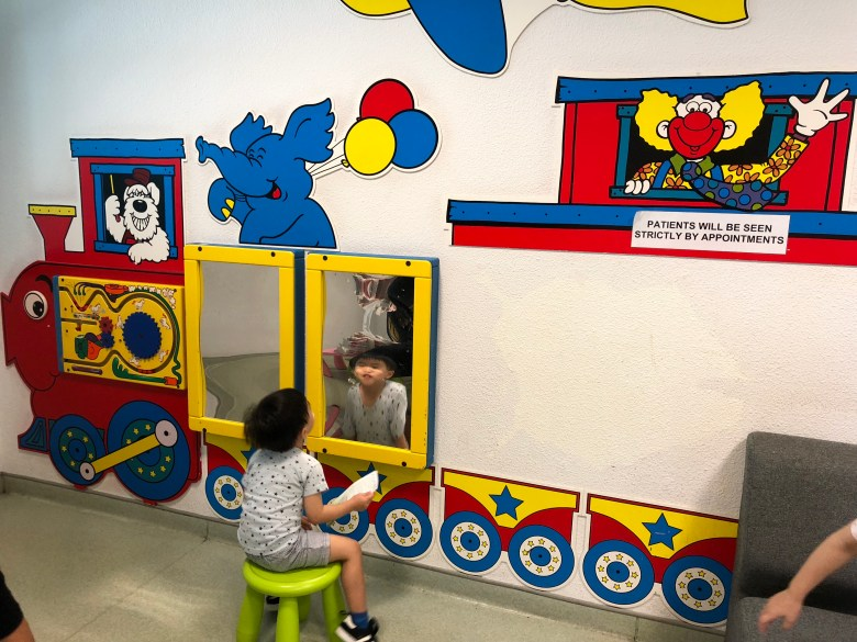 kids waiting area at school dental centre HPB