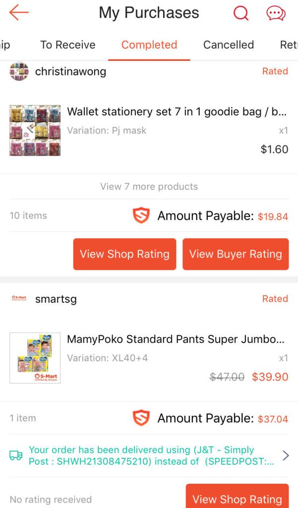 review Shopee shopping experience