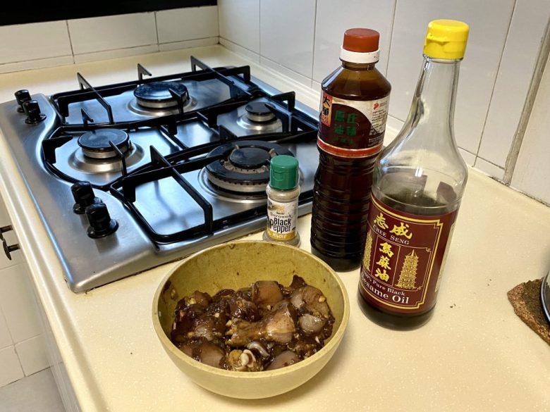 Jjimdak (Korean Braised Chicken) with Japchae recipe