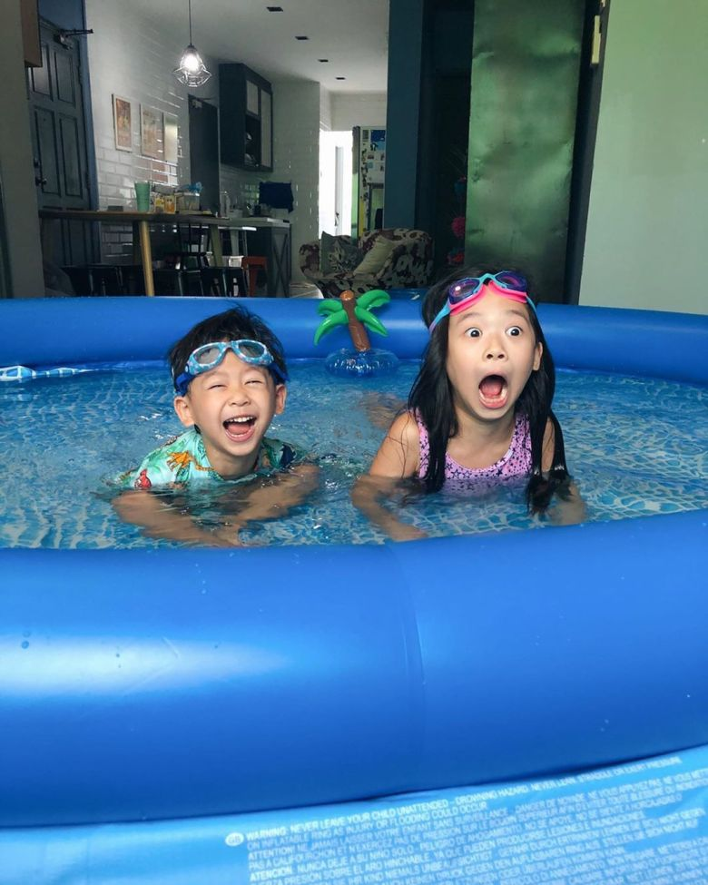 inflatable pool fun stay home activities for kids