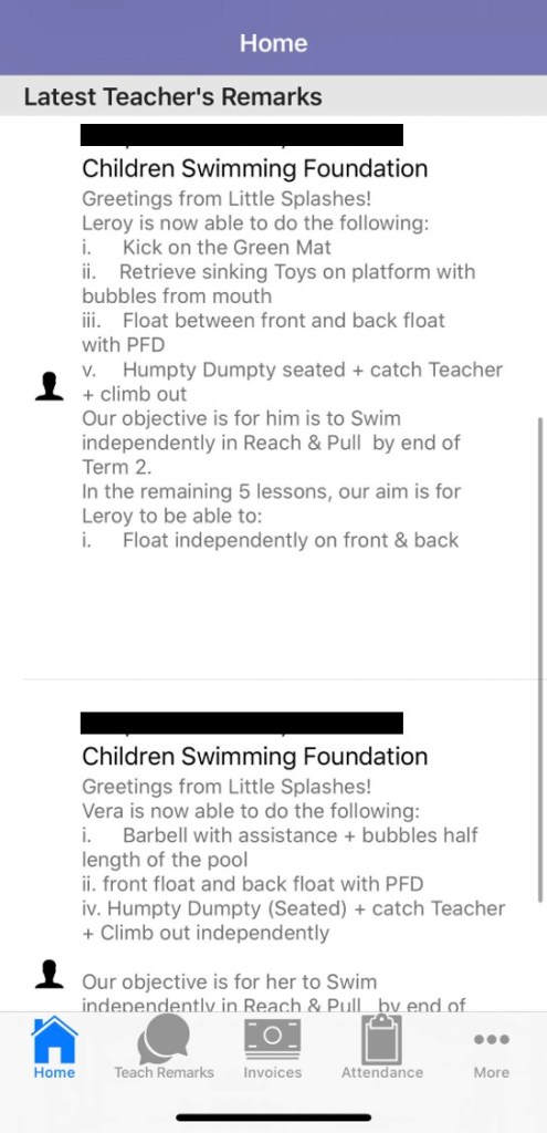 Swim school for kids singapore