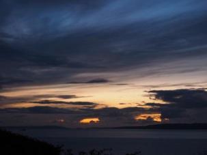 Grey on gold sunset