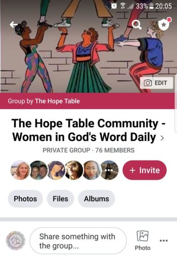 Christian Facebook Group The Hope Table