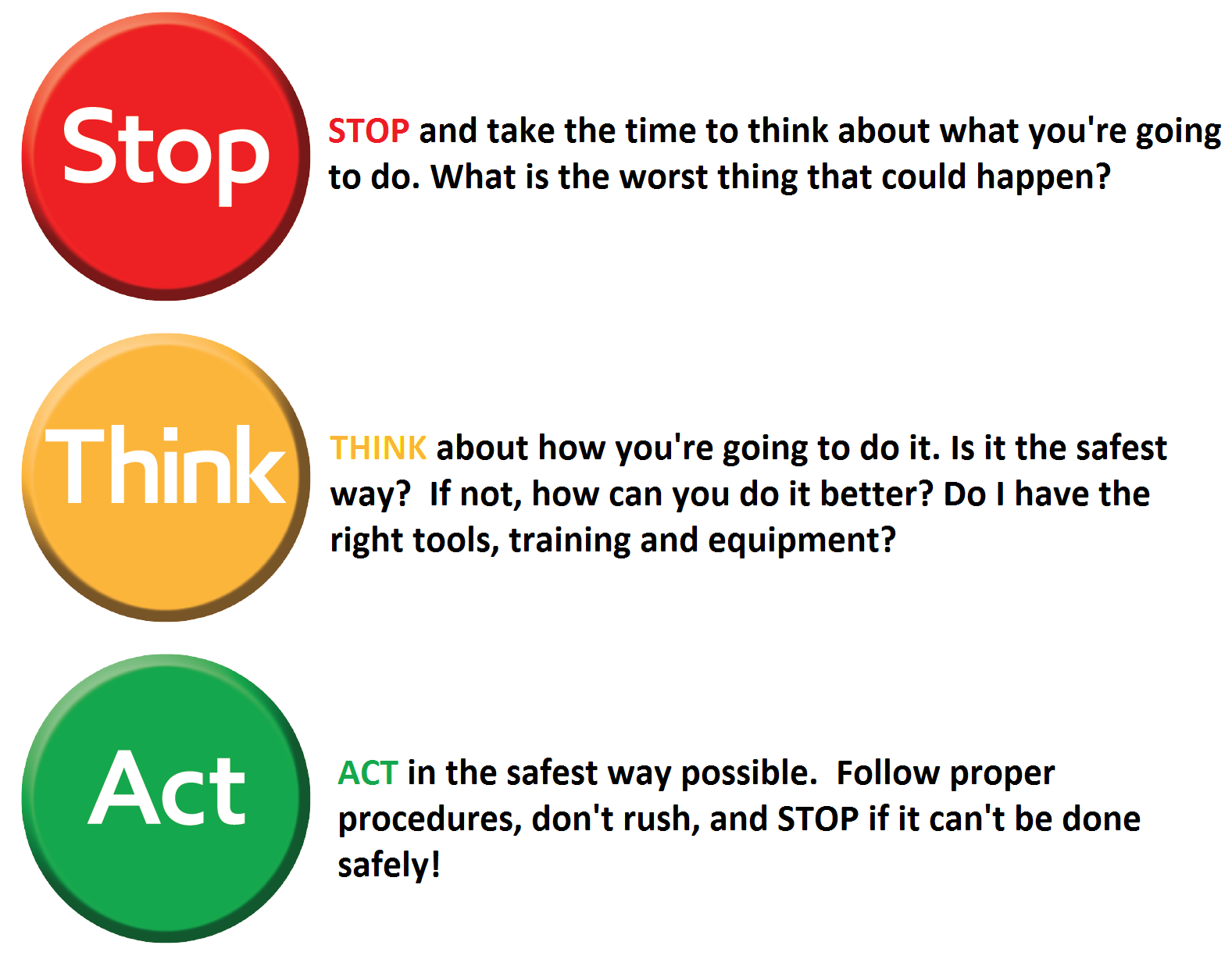 30 Stop Think Act Worksheet